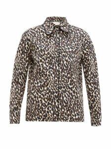 La Doublej - Rodeo Leopard-print Cotton-poplin Shirt - Womens - Leopard