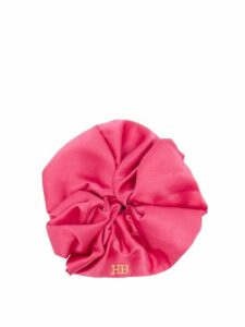 Hillier Bartley - Logo-embroidered Satin Scrunchie - Womens - Pink