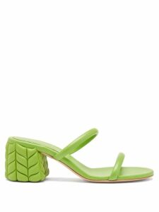 Burberry - Petertown Panelled Leather Biker Trousers - Womens - Brown