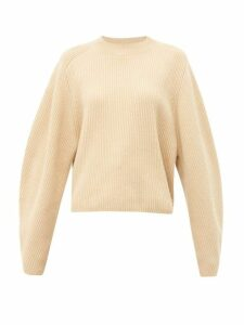 Chloé - Ribbed Wool-blend Sweater - Womens - Light Brown