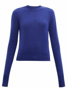 Bottega Veneta - Exaggerated Sleeve Cashmere Blend Sweater - Womens - Blue