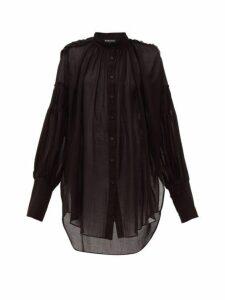 Ann Demeulemeester - Tiriel Cotton Blend Blouse - Womens - Black