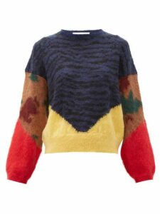 Toga - Animal Print Jacquard Knit - Womens - Navy