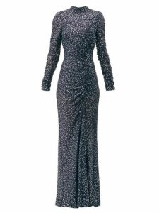 Jonathan Simkhai - Sequinned High-neck Gown - Womens - Navy