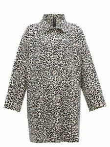 Norma Kamali - Leopard Print Single Breasted Coat - Womens - Leopard