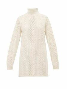 Chloé - Contrast Panel Wool Blend Sweater - Womens - Ivory