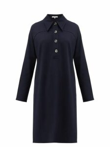 Tibi - Bond Stretch Knit Shirtdress - Womens - Navy