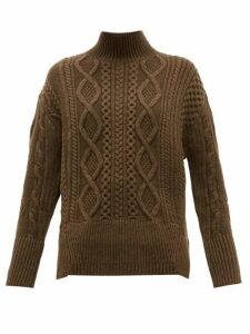 Proenza Schouler - Cable-knit Wool Sweater - Womens - Dark Green