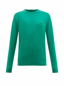 Acne Studios - Nalon Face Wool Sweater - Womens - Green