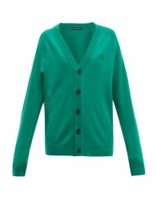 Acne Studios - Neve Face Wool Cardigan - Womens - Green