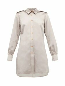 Sies Marjan - Kelsi Longline Cotton-blend Satin Shirt - Womens - Light Grey