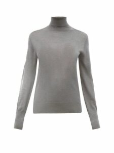 Officine Générale - Ninon Wool Blend Roll Neck Sweater - Womens - Grey