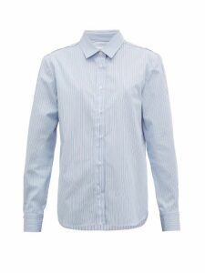 Golden Goose - Deconstructed Striped Cotton-poplin Shirt - Womens - Blue