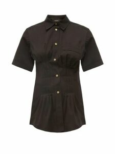 Isabel Marant - Gramy Pleated Cotton-canvas Shirt - Womens - Black