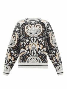 See By Chloé - Paisley-jacquard Wool-blend Sweater - Womens - Grey Multi