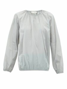 The Row - Rain Elasticated-edge Shell Blouse - Womens - Grey