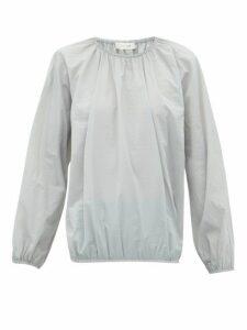 The Row - Rain Elasticated-edge Shell Blouse - Womens - Grey
