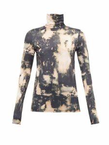 Acne Studios - Eryn Tie Dye Jersey Top - Womens - Beige Multi