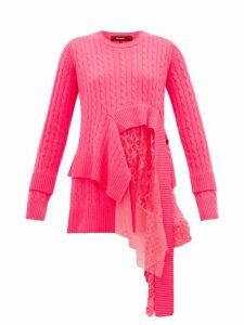 Sies Marjan - Trine Layered Wool-blend Sweater - Womens - Fuchsia