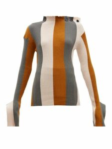 Palmer//harding - Shift Striped Cotton And Cashmere-blend Sweater - Womens - Multi