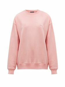 Acne Studios - Fairview Face Cotton Sweatshirt - Womens - Light Pink