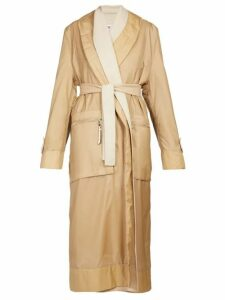 Loewe - Layered Single-breasted Nylon And Wool Coat - Womens - Camel