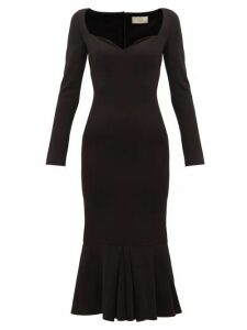 Sara Battaglia - Sweetheart Neckline Jersey Maxi Dress - Womens - Black