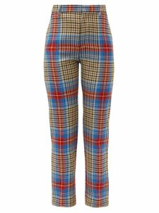 Charles Jeffrey Loverboy - Tartan Wool Trousers - Womens - Beige Multi