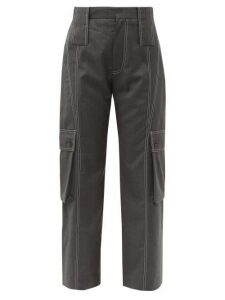 Charles Jeffrey Loverboy - Cropped Wool Cargo Trousers - Womens - Grey