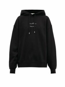 Acne Studios - Fyola Broken Logo Cotton Hooded Sweatshirt - Womens - Black