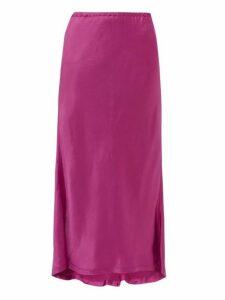 Sies Marjan - Xael Satin Bias-cut Midi Skirt - Womens - Pink