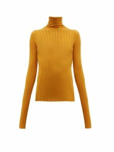 Petar Petrov - Karen High-neck Ribbed Merino-wool Sweater - Womens - Orange