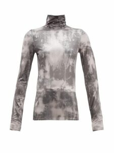Acne Studios - Eryn Tie-dye Jersey Top - Womens - Black Multi
