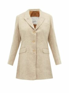 Giuliva Heritage Collection - The Karen Single-breasted Wool Blazer - Womens - Cream