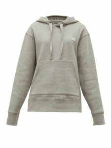 Acne Studios - Ferris Face Logo Patch Cotton Hooded Sweatshirt - Womens - Light Grey
