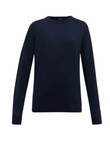 Acne Studios - Nalon Face Wool Sweater - Womens - Navy