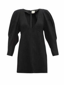 Khaite - Jenny Blouson Sleeve Canvas Top - Womens - Black
