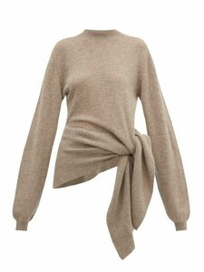 Khaite - Esme Tie Side Cashmere Blend Sweater - Womens - Beige