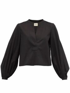 Khaite - Suzanna Cotton Blouse - Womens - Black