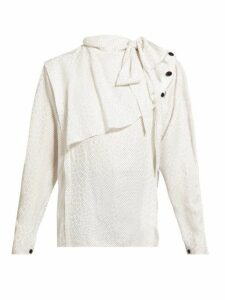 Isabel Marant - Saki Draped Silk-blend Blouse - Womens - White Multi