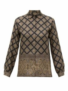 Etro - Paisley-print Silk Shirt - Womens - Black Multi
