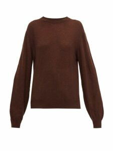 Khaite - Viola Crew Neck Cashmere Sweater - Womens - Dark Brown