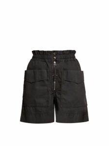 Isabel Marant Étoile - Lizy Straight Leg Cotton Shorts - Womens - Black