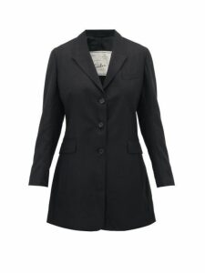 Giuliva Heritage Collection - Karen Tailored Virgin Wool-twill Blazer - Womens - Black