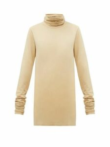 Lemaire - Roll-neck Cotton-blend Top - Womens - Beige