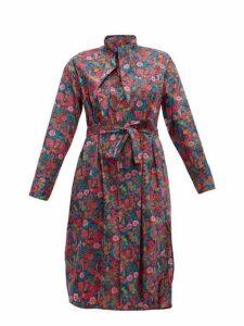 Vivienne Westwood - Liberty Print Cotton Dress - Womens - Pink Multi