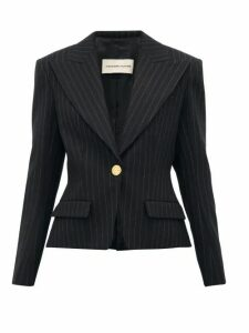 Alexandre Vauthier - Pinstripe Single-breasted Wool-blend Blazer - Womens - Black Multi