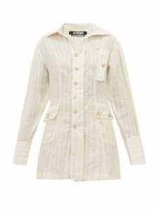 Jacquemus - Roman Linen Striped Shirt - Womens - Ivory