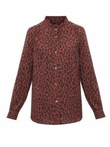 A.p.c. - Alice Leopard-print Voile Shirt - Womens - Leopard