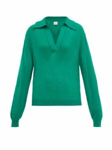 Khaite - Jo Collared Cashmere-blend Sweater - Womens - Green